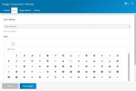 WebGatha Shortcode Image Cmparison Icon Setting