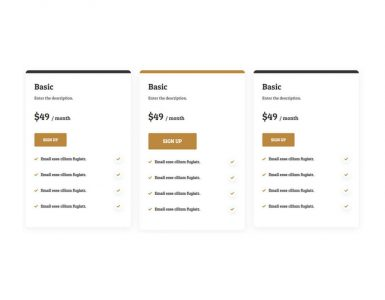 WebGatha Shortcode Pricing Table