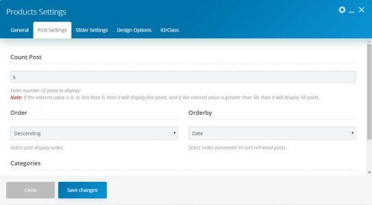 WebGatha Shortcode Products Post Setting