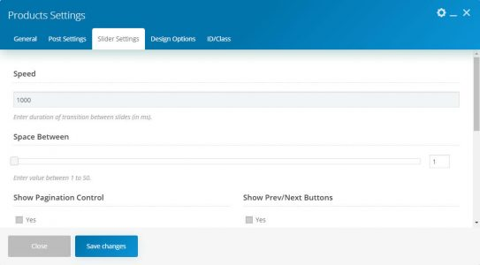 WebGatha Shortcode Products Slider Setting
