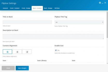 WebGatha Shortcode Flipbox Back Content Setting
