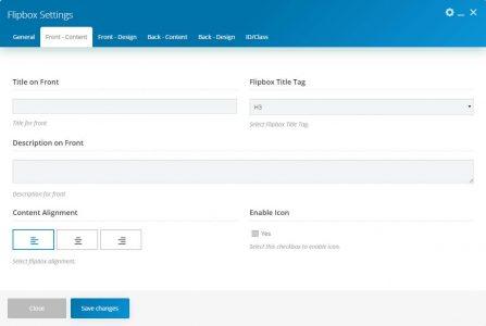 WebGatha Shortcode Flipbox Front Content Setting
