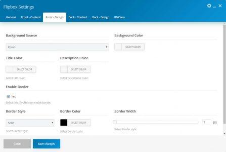 WebGatha Shortcode Flipbox Front Design Setting