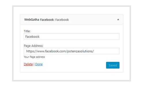 WebGatha Widget Facebook Backend
