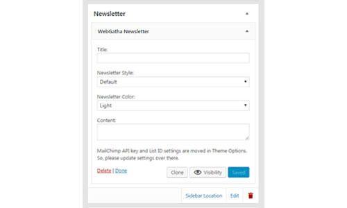 WebGatha Widget Newsletter Backend