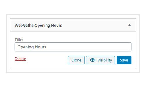 WebGatha Widget Opening Hours Backend