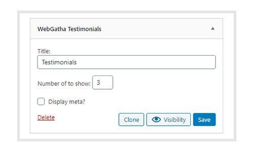 WebGatha Widget Testimonial Backend