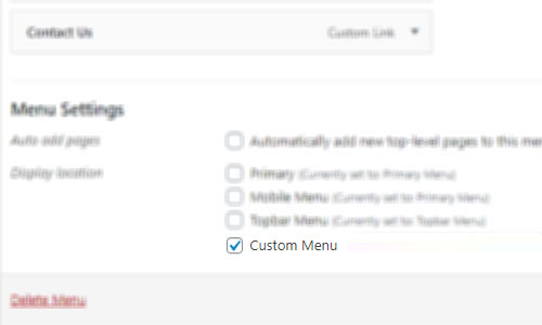 WebGatha Custom Menu Backend